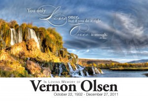 In Memory of Vernon Olsen: A Tribute to my Grandfather